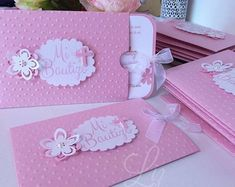 Created for a pretty little girl / invitations handmade cards pink sizzix big kick / scrapbooking / crafting studio / bautizo / invitaciones / paper goods / craft lover Christening Invitations Girl, First Communion Invitations, Baby Christening, Baptism Invitations, Baby Shower Invitations, Customized Invitations, Baptism Cards, Baby Party, Cardmaking