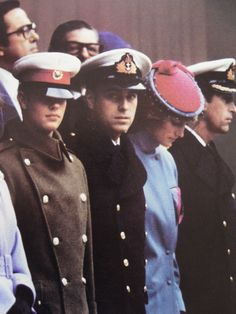 November 2, 1983: Princess Diana with Prince Andrew & Prince Edward (Prince Charles is out of frame) at a ceremony for the unveiling of a statue in honor of the late Earl Mountbatten, (who was murdered by the IRA) at Foreign Office Green, London.