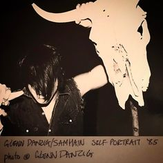 GlennDanzig/Samhain promo 1985. Photo © Glenn Danzig. From the collection of @danzig_7thhouse.