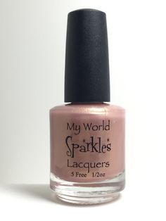 Pref List, Golden Rose pearlescent base, by My World Sparkles Lacquers - Handmade 5-Free Indie nail polish - Full size 1/2 oz by MyWorldSparklesStore on Etsy