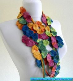 "An explosion of color!! ""My Corner of Crochet with chart"