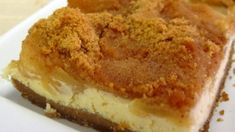 Applepie AND cheesecake in one ! Must be heaven ! Greek Sweets, Greek Desserts, Greek Recipes, Light Recipes, Fun Desserts, Food Network Recipes, Cooking Recipes, Cake Recipes, Dessert Recipes
