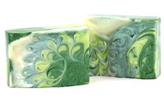 Green Sawblade Swirl Cold Process Soap Tutorial by Erica with Bath Alchemy Lab