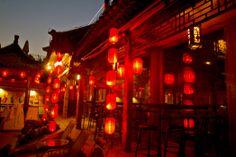 Dongyue Temple: Lanterns at Qianhai Dongyuan/ Qianhai Beiyan (Lotus Lane)