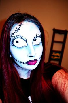 Sally (Nightmare Before Christmas) Make-up Tutorial | Queen of ...