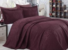 Set Cuvertura Exclusive - Melis Claret Comforters, Blanket, Bed, Furniture, Home Decor, Creature Comforts, Quilts, Decoration Home, Stream Bed