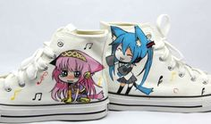 #VOCALOID anime shoes VOCALOID sneakers custom high-top sneakers