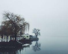 foggy reflections | athens, ny