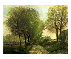 A Lane near a small Town, art print, digital giclee reproduction, Alfred Sisley