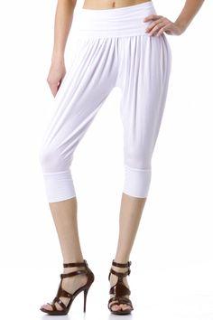 MC Hammer Pants, Harem Pants, White