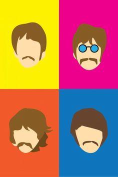 Poster Dos Beatles, Les Beatles, Small Canvas Art, Diy Canvas Art, Beatles Birthday Party, Rock And Roll, Cartoon Art, Pop Art, Drawings