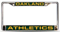 New! Oakland Athletics License Plate Frame Laser Cut Chrome #OaklandAthletics