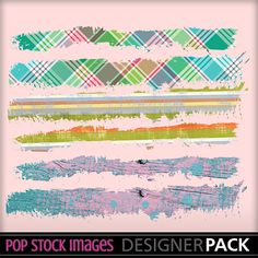 Clipart - Digital Scrapbooking - Journal Tattered Page Borders - Paper Trims - Grungy Paper Border - Tattered Edge - Washi Tape Border