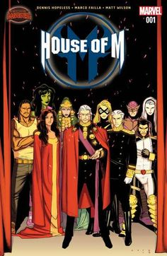 House of M (2015-) #1: The House of Magnus controls all, having crushed all resistance to their reign. Magneto rules with an iron-fist, while his children and grandchildren live their lives as royals, with all the privileges and pit-falls that come with that title. But is Magneto's control as all-encompassing as it seems? And what happens to a conqueror when there is no one left to conquer?