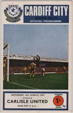 Vintage Football Programme - Cardiff City v Carlisle United, 1970/71 season