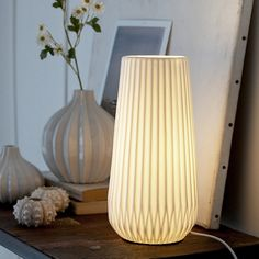 simple white ceramic lamp