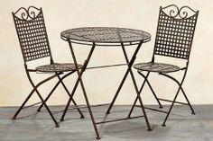 Tisch   2 Stühle *Lina* Gartenmöbel Sitzgruppe Garnitur Eisen Landhaus von Only4You, http://www.amazon.de/dp/B0083TY97K/ref=cm_sw_r_pi_dp_hkVqtb0DZD3R2 ähnliche Projekte und Ideen wie im Bild vorgestellt findest du auch in unserem Magaz