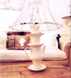 DIY tea cup lamp tutorial from Twigg Studios