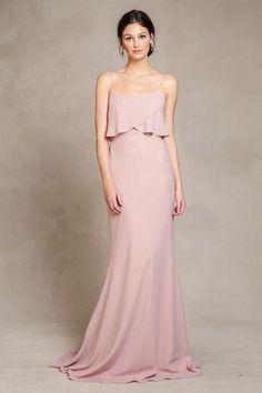 bohemian long ruffled bridesmaid dress from Jenny Yoo fall bridesmaid collection 2015