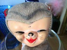 1960-luvun kissa-lelu Kissa, Carnival, Retro, Toys, Face, Painting, Vintage, Mardi Gras, Carnivals