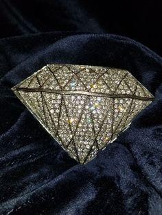 Nice Large Rhinestone Golden 3D Star Shaped Belt Buckle MINT