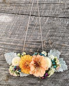 Fresh floral necklace for the Mother of the Bride. Grown and designed by Love 'n Fresh Flowers.