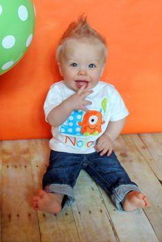 Hey, I found this really awesome Etsy listing at https://www.etsy.com/listing/177845540/fuzzy-orange-monster-birthday-shirt