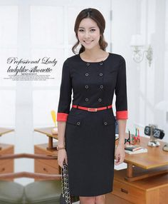 Free shipping,2013 new fashion upgraded spring korean casual women career OL suit dress/lady office dress/business dress,B87 Price    US $ 27.50