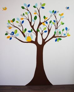 Inspirerend | Levensgrote babykamer boom muurschildering, net zo strak als een muursticker, maar dan in elke kleur en formaat naar wens gemaakt door BIM Kinderkamer Muurschildering. Door vliegeniers