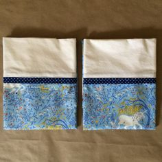 Unicorn pillowcases by Palindrome Dry Goods on Etsy.