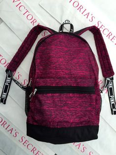 New Victoria's Secret PINK Campus Canvas Backpack Book Bag Tote Maroon in Clothing, Shoes & Accessories, Women's Handbags & Bags, Backpacks & Bookbags   eBay
