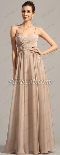 Spaghetti straps formal gown! #edressit #dress #fashion