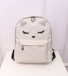Cute Cat Backpack Casual Style for Girls.