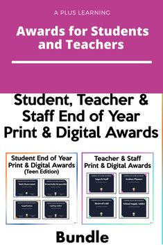 Teacher Awards, Student Awards, Student Teacher, Insert Text, End Of Year, Teacher Resources, No Response, Success, Tools