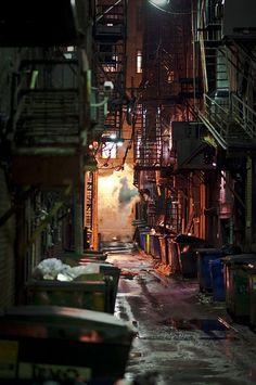 Back Alley – Cyberpunk Gallery Cyberpunk Aesthetic, Cyberpunk City, City Aesthetic, Urban Aesthetic, Urban Photography, Street Photography, Grunge Photography, Minimalist Photography, Newborn Photography