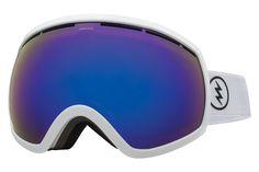 Electric - EG2 Gloss White Goggles, Rose/Blue Chrome Lenses
