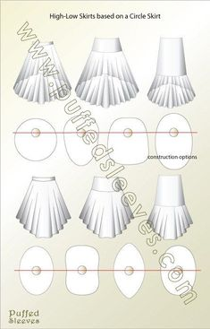 circle skirts with high low hem - PIPicStatsSewing circle skirt is not a time consuming project, this makes it a popular choice for home seamstress. Circle skirt construction is not a complicated process.Four basic cuts of a circle skirt. Diy Sewing Projects, Sewing Hacks, Sewing Tutorials, Dress Tutorials, Fashion Sewing, Diy Fashion, Ideias Fashion, Skirt Fashion, Skirt Patterns Sewing
