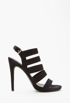 71fe948703d Forever 21 cutout faux suede sandals on ShopStyle