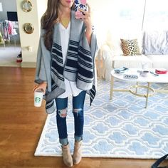 Really cute poncho for fall