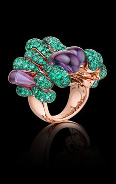 de Grisogono--I think this was made for me...rose gold, check, amethysts, check, emeralds, check...yup, it's mine!
