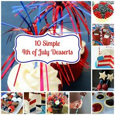 Double Feature! Simple 4th Desserts and Rag Wreath!