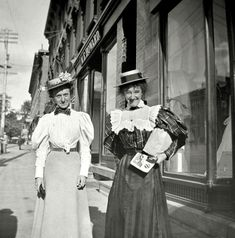 """Malone, New York, 1897, """"Mabel and Daisy on the street."""" Shorpy Historic Picture Archive :: Mabel and Daisy: 1897 high-resolution photo"""