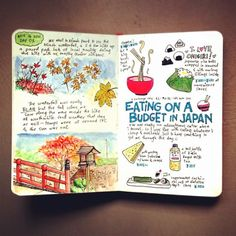 A spread from my travel sketchbook, Japan chapter.