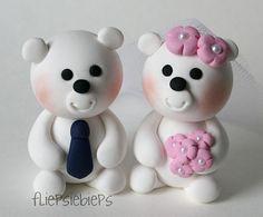 Custom Polar Bears Wedding Cake Topper by fliepsiebieps on Etsy, $57.00