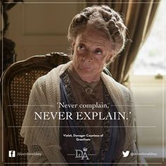 Downton Abbey Season Dame Maggie Smith as Violet Crawley, Dowager Countess of Grantham Downton Abbey Season 6, Downton Abbey Fashion, Downton Abbey Timeline, Downtown Abbey Quotes, Lady Violet, Dowager Countess, Masterpiece Theater, Maggie Smith, Lectures