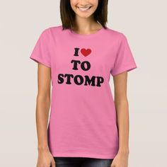 I Love To Stomp T-Shirt - metal style gift ideas unique diy personalize