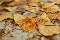 uh oh... i really shouldn't have been allowed to learn that making baked tortilla chips is really easy...