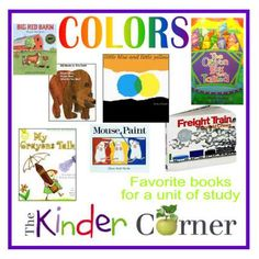 Books Ideas To Accompany A Colors Unit Of Study