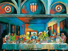 Captain America Last Supper