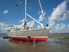Drying out on the Waddenzee in Holland. #sailing #yacht #stadtship